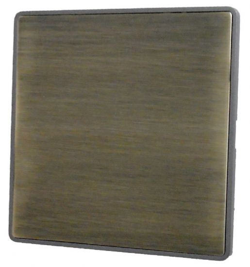 G&H Screwless Plate Antique Bronze